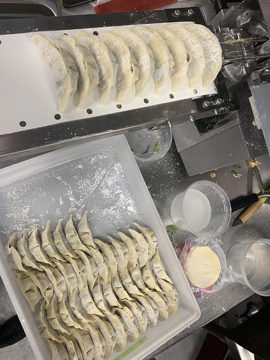 Gyoza being made for Mimi's Chūka Diner.