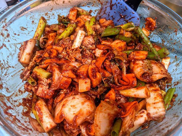 Kimchi prep 2