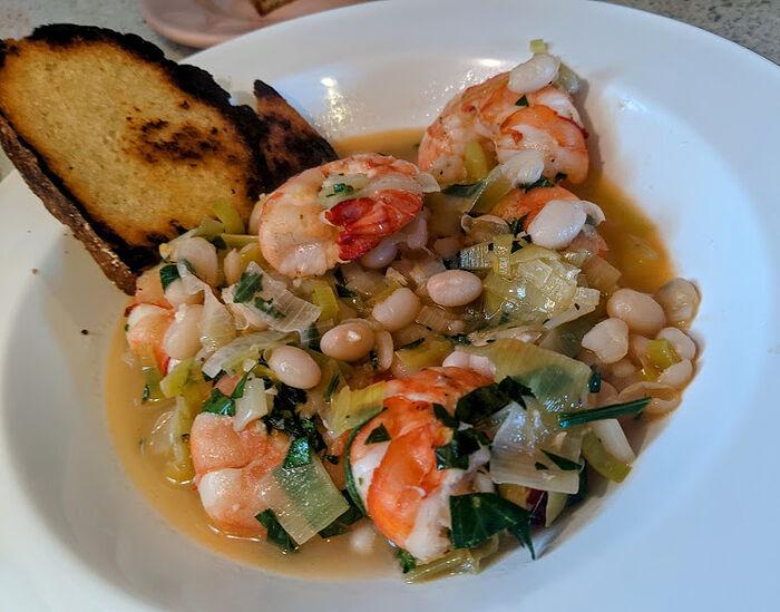 NYT lemon beans & shrimp