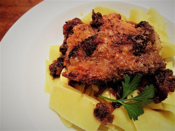 chicken roasted toms pasta
