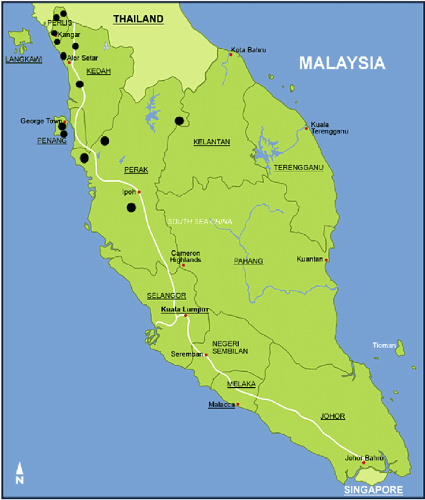 A-geographical-map-of-West-Malaysia-and-dental-clinics-sites
