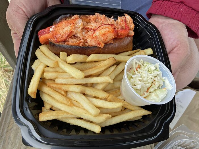 The Wicked Lobster Roll served at The Skipper is made with a half-pound of meat and served with . . . butter. That's it. Plus extra butter, if you are in total indulgent mode.