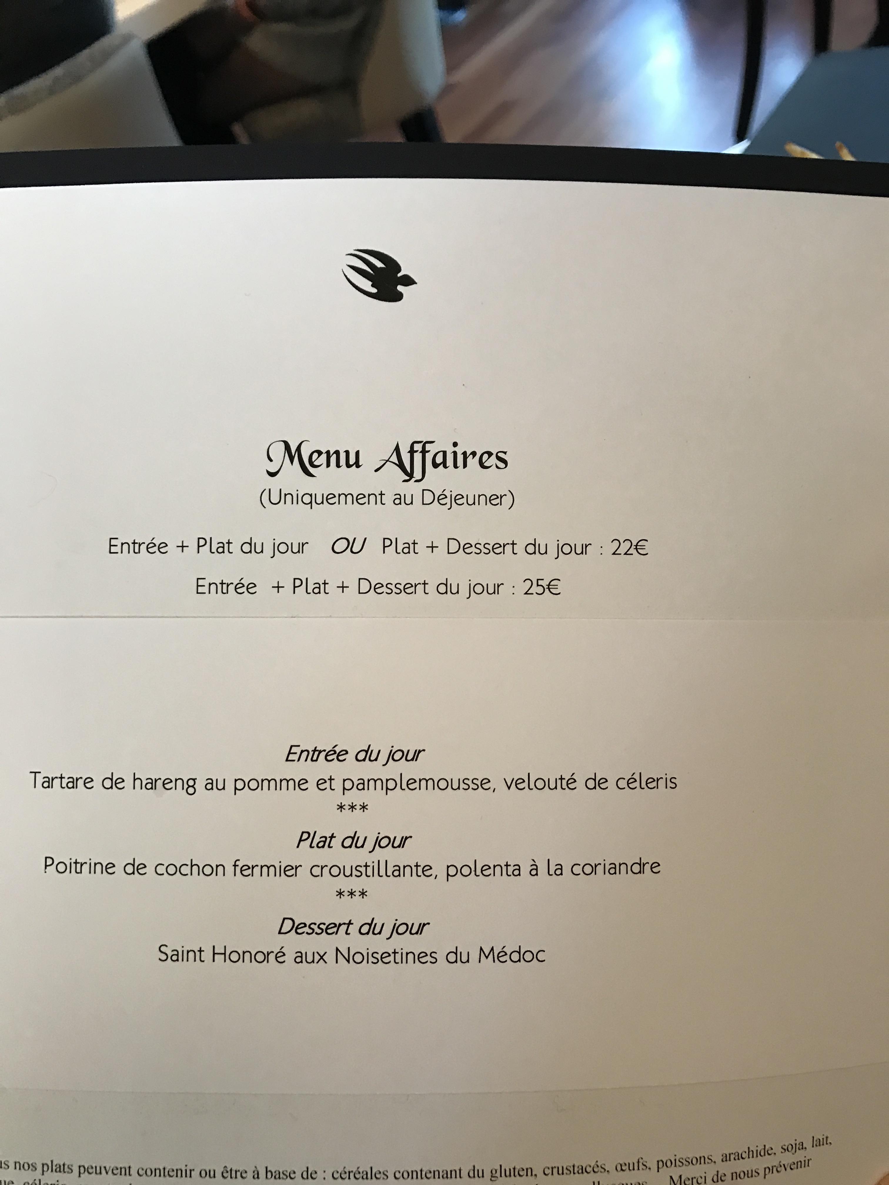 Bordeaux] L\'Oiseau Bleu - Europe, Middle East, Africa - Hungry Onion