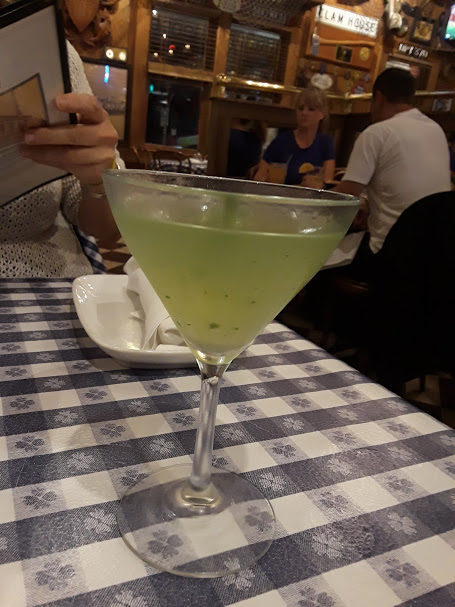 Old Clam - fish breath basil martini