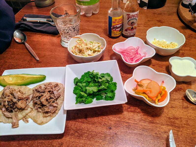 carnitas taco dinner 1