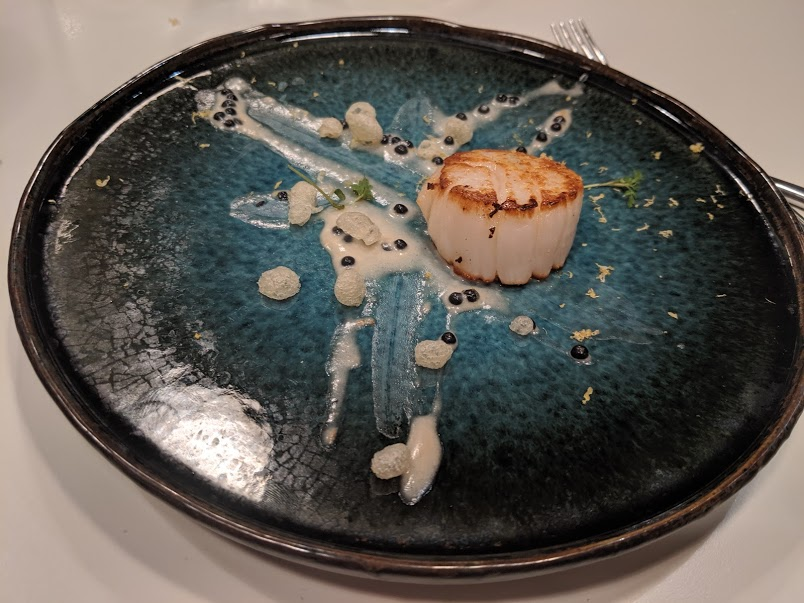 Ten's%20roasted%20scallop%20with%20squid%20sauce%20%26%20tempura