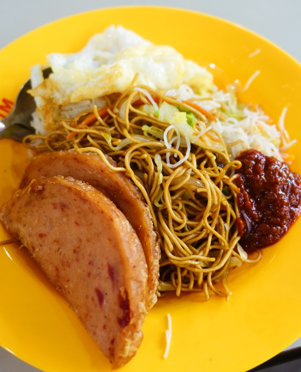 """singapore """"bak chor mee"""" minced pork noodles from ang"""