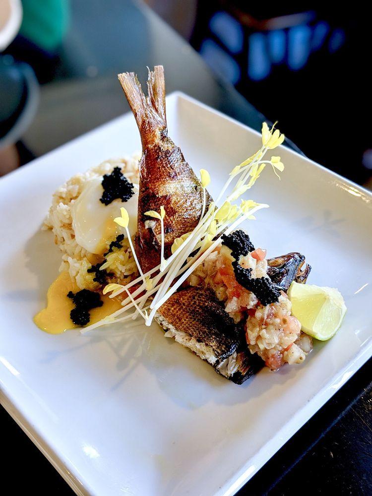 Tinapang Bangus - milkfish w/ sous vide egg and garlic rice - very tasty!