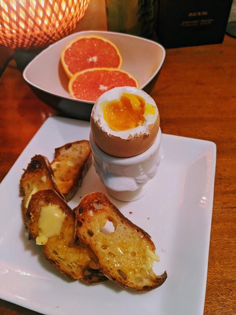 boiled egg & toast