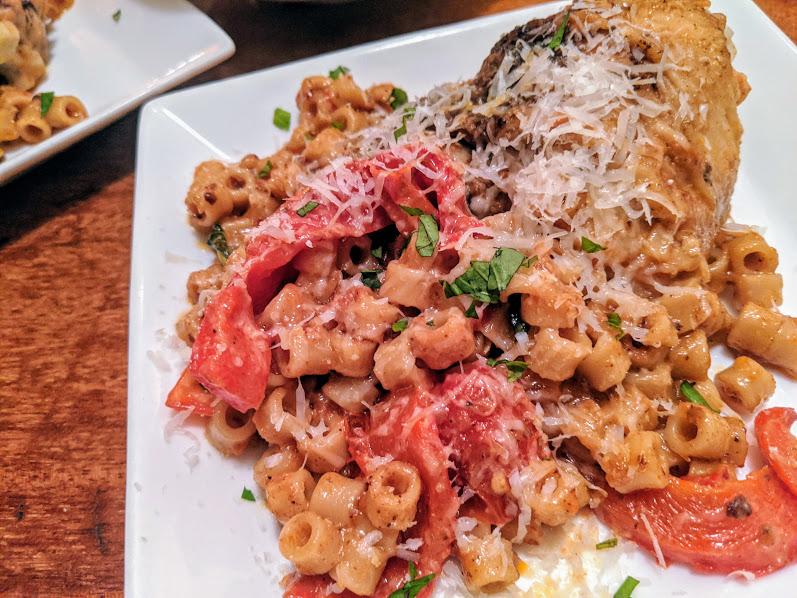 chicken tomato gravy pasta dinner 2