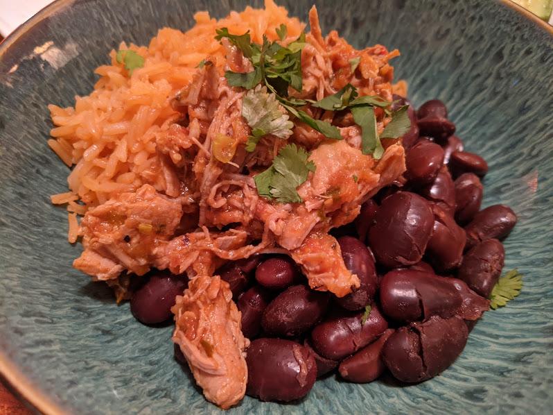 Salsa pork bowl